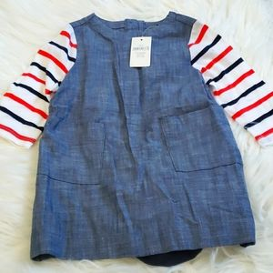 Babygap jean dress-3-6mths NEW